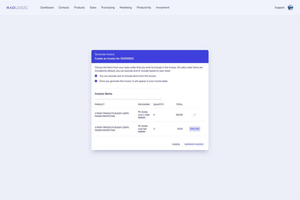 Convert sales orders to invoices