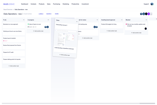 Manage projects and tasks with kanban boards and intelligent to-do lists