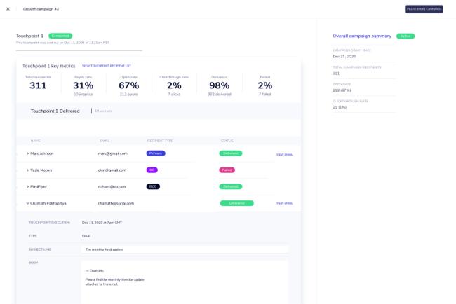 Create multi-touch, omni-channel campaigns