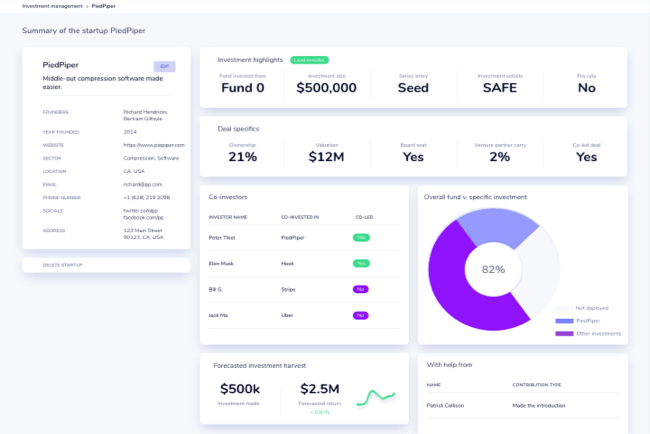 Track your investment performance